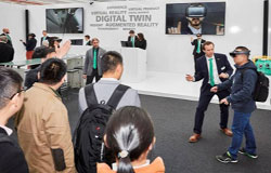 The for visions exhibition area offered a glimpse into the digital future at the Technology Days 2018
